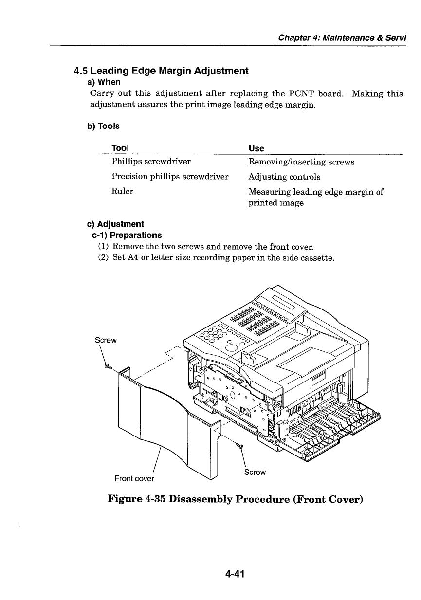 canon fax l500 l550 parts and service manual